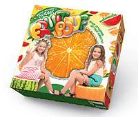 """Детский Мягкий надувной пуфик """"Fruit pouf"""" Апельсин Danko Toys"""