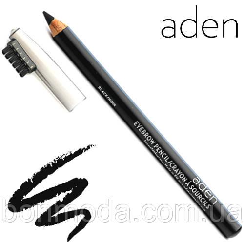 """Aden Карандаш для бровей Eyebrow Pencil """"Black/Noir"""" № 01 (Чёрный)"""