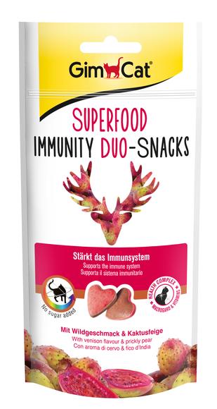 Gimpet Superfood Immunity дуо-снек 40 г- лакомства для кошек с мясом дичи и опунцией (для иммунитета)