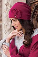 Зимняя женская шапка  Pilar Kamea, шерстяная, фуксия цвет, фото 1
