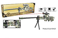 Автомат батар. 66869 (12шт/2)с прицелом,свет,звук,5бат.АА,р-р оруж.98*6*20см,в кор 96*8*25,5см