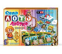 Детская настольная игра Супер Лото - азбука 2в1