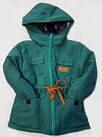 Куртка парка малыш на синтепоне, размер 92-116, бирюза