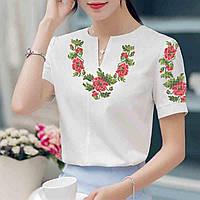Заготовка вишиванки жіночої сорочки та блузи для вишивки бісером Бисерок « Маки 19» (Б 6c234dd79493c