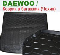 DAEWOO Lanos (седан) - ковры багажника резиновые (полиуретан). Чехия