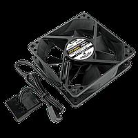 Вентилятор LP F8NBD, 80MM, 3pin + 4pin (Molex питание), black