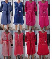 Комплект для кормящих и беременных женщин халат и сорочка из полотна кулир 44-54 р