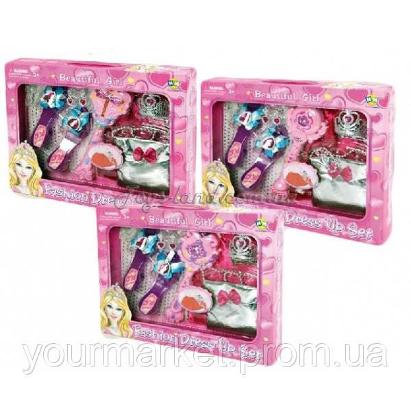 Аксессуары для девочек L849  3 вида,волш.пал,туфли,сумочка,акс, в кор.
