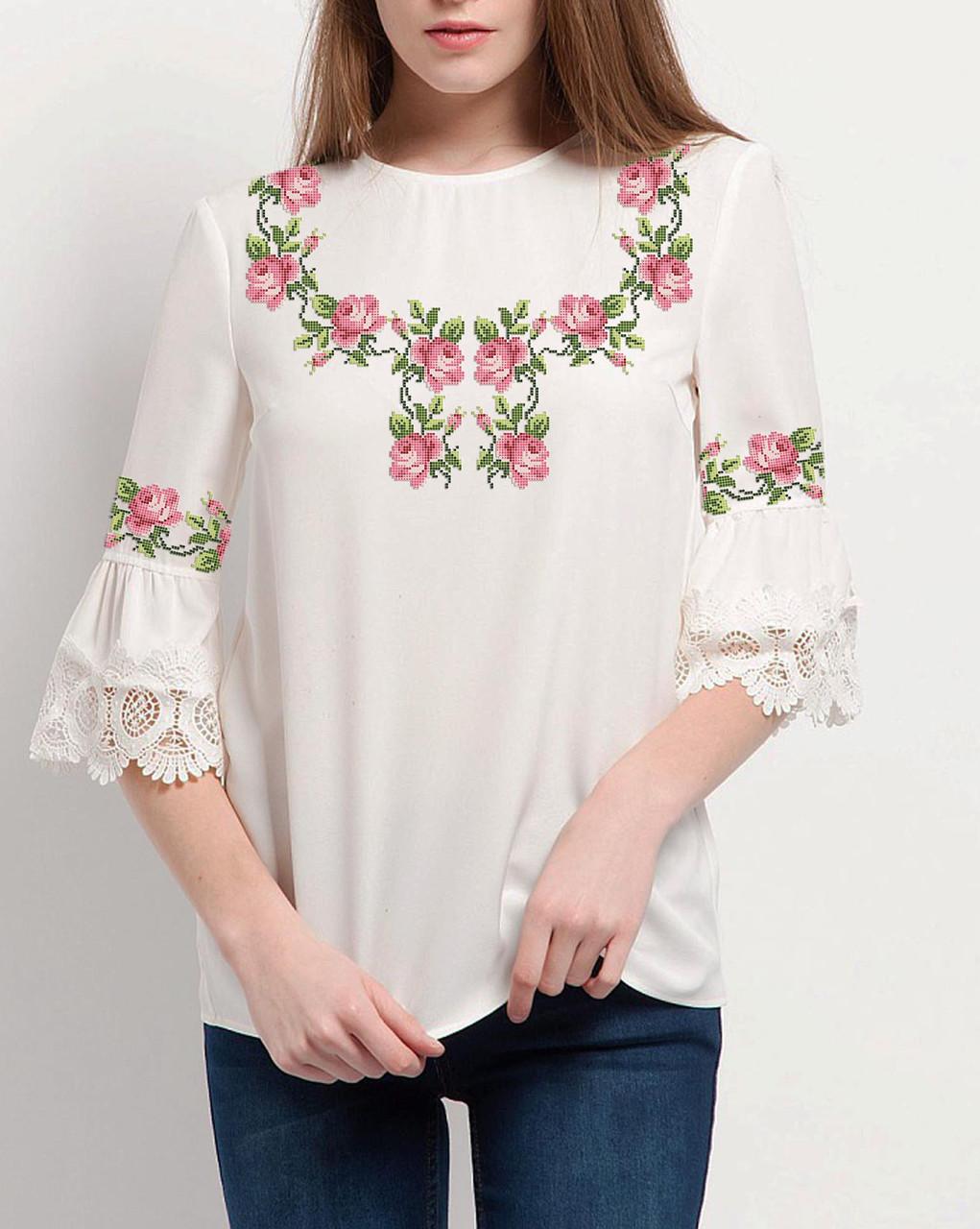 Заготовка вишиванки жіночої сорочки та блузи для вишивки бісером Бисерок «Ніжність» (Б-100 )