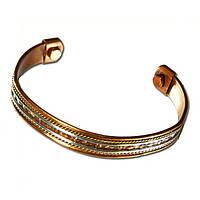 Медномагнитный браслет, узкий