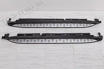 Пороги подножки площадки Mercedes GL X166