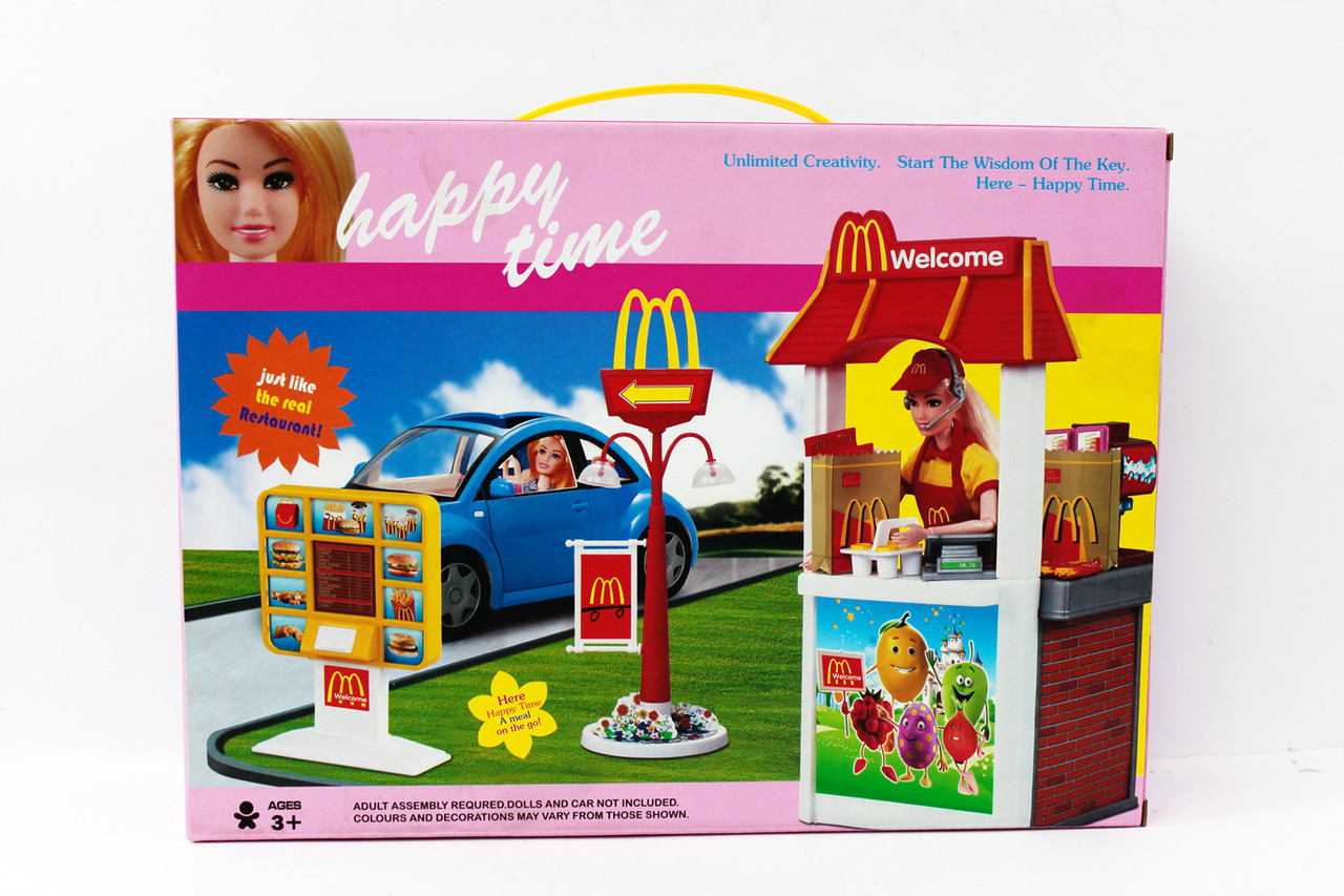 Набор мебели для кукол Кафе MC Donalds макдрайв 8801