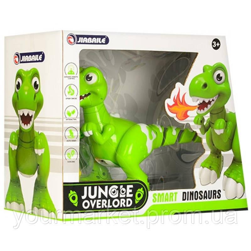 Интерактивный динозавр 908A (12шт) р/у, usb заряд., пар, ездит,танцует