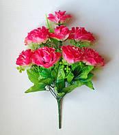 Букет искусственных цветов Роза гофрированная с вуалью и добавками , 46 см