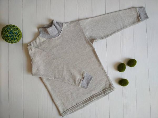 Детская флисовая водолазка для мальчика серого цвета, детские водолазки оптом от производителя