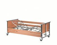 4-х секционная кровать Medley Ergo SW с электроприводом, стальные ламели и деревянные поручни