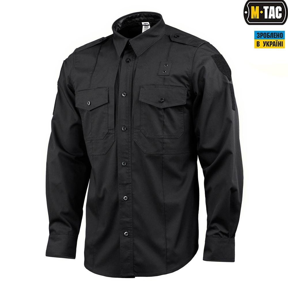 M-Tac рубашка Police Elite Flex рип-стоп Black