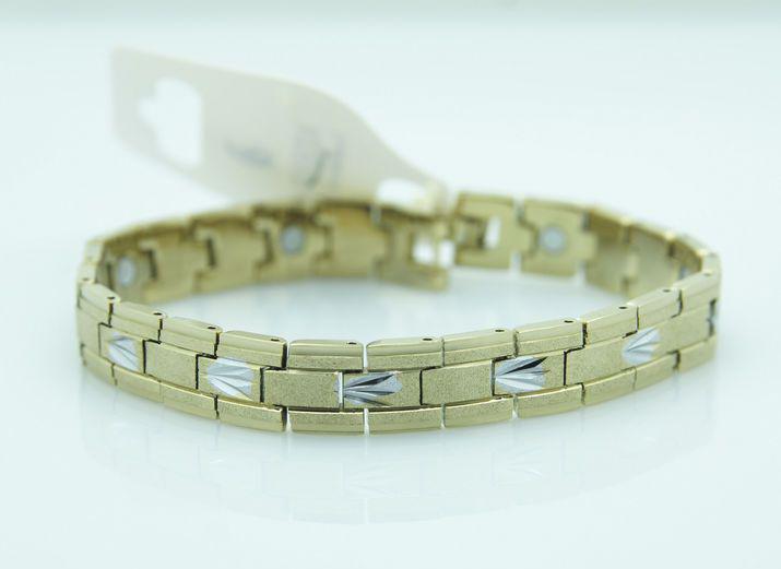 Тонкий магнітний браслет із сталі