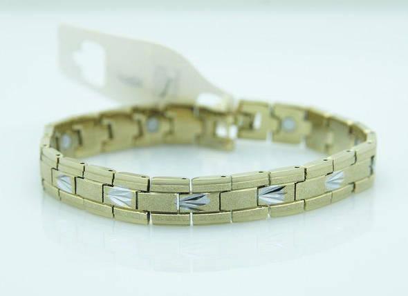 Тонкий магнітний браслет із сталі, фото 2