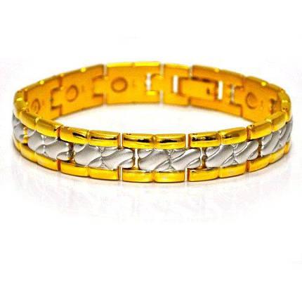 Медно-магнитный позолоченный браслет, фото 2