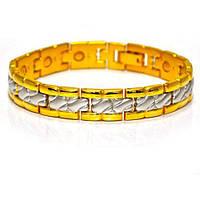 Медно-магнитный позолоченный браслет