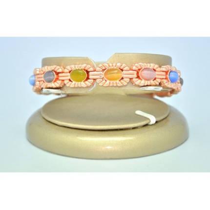 Магнітний металевий браслет з камінням, фото 2