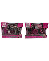 Парикмахерский набор BE1363/4 (12шт/2)2вида,фен,расческа,аксес в чемодане..в кор.
