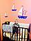 """Дитяча наклейка на шпалери з ім'ям дитини """"Кораблики"""", фото 4"""