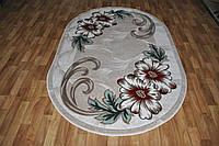 Овальный ковер с цветами Meral
