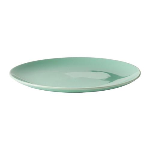 """ИКЕА """"ФЭРГРИК"""" Тарелка, керамика, светло-зеленый, 27 см"""