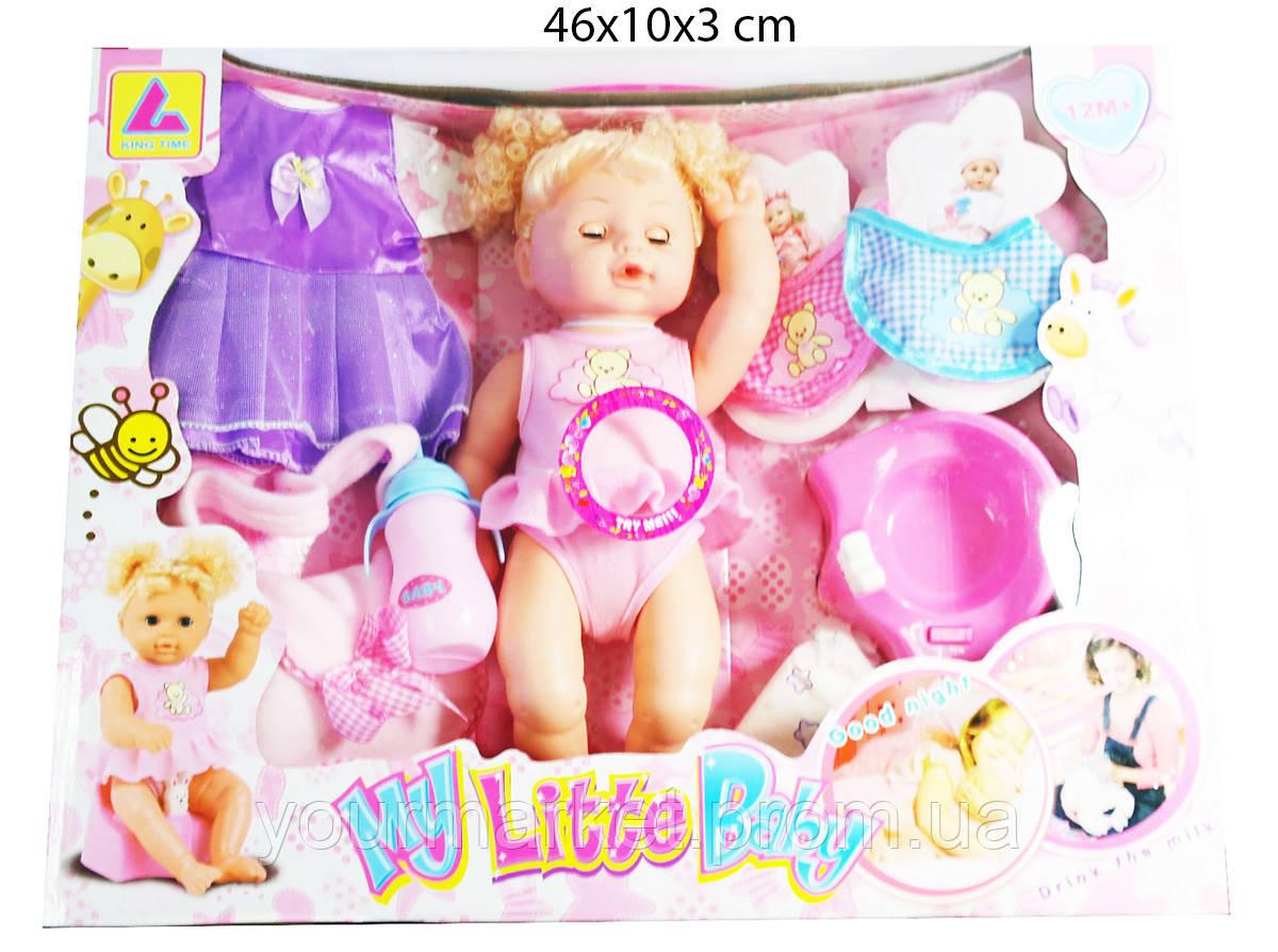 Кукла функциональна пьет/писает, 31см, с сумкой и аксессуарами KT3000E