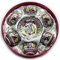 Подарочный чайный сервиз на 6 персон Фиолетовый
