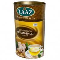 Чай зеленый с имбирем TAAZ  100 гр в тубусе