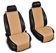 "Накидки на сиденье ""Эко-замша"" широкие (1+1) без лого, цвет бежевый"