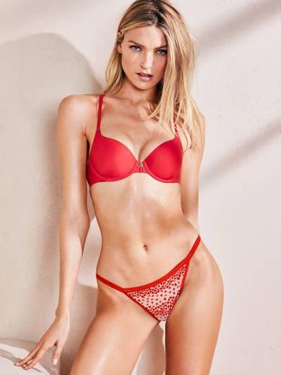 💋 Victoria's Secret Трусики Т-стринги XO-XO V-string Panty M, Красный