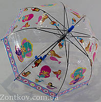 """Детский прозрачный зонтик """"грибком"""" на 3-6 лет от фирмы """"Paolo"""""""