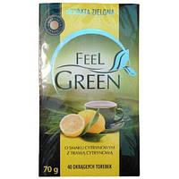 Чай зеленый Herbata Zielona Feel Green o smaku Cytrynowym- с Лимоном
