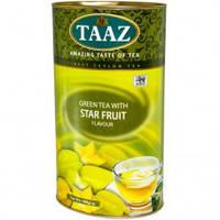 Чай зеленый TAAZ Star Fruit Карамболь 100 гр в тубусе