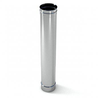 Труба дымоходная нержавейка Версия Люкс L-0,5 м D-130 мм толщина 1 мм