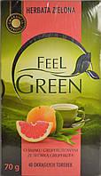 Чай зеленый Herbata Zielona Feel Green o smaku Grejpfrutowym- со вкусом грейпфрута