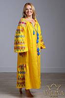 Вышитое платье, длинное., фото 1