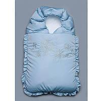 Конверт на выписку зимний Снежинки Модный  карапуз (03-00468-0)