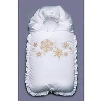 Конверт на выписку зимний Снежинки Модный  карапуз (03-00468-1)