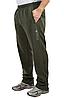 ЗИМНИЕ спортивные штаны мужские утепленные трикотажные оливковые прямые Украина, фото 2