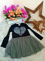 Нарядное платье Турция Оптом и в розницу Broken Heart  от фирмы Breeze 6-12 лет , фото 1