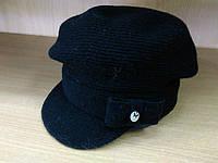 Lorena зимняя женская шерстяная шапка с козырьком Kamea, шерстяная, черный цвет
