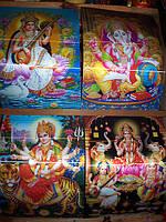 Постер голографический с индийскими богами