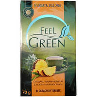 Чай зеленый Herbata Zielona Feel Green o smaku Ananasowym- со вкусом ананаса