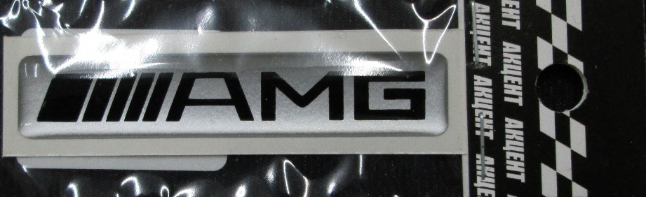 Силиконовая 3D наклейка AMG  61х12 мм
