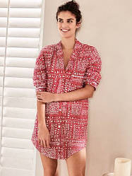 Victoria's Secret Ночная рубашка-Халат Mayfair Sleepshirt XS, Красный